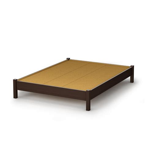 Full Size Contemporary Platform Bed In Chocolate Finish Platform Bed Frames