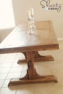 build a farmhouse ana white triple pedestal farmhouse table diy projects