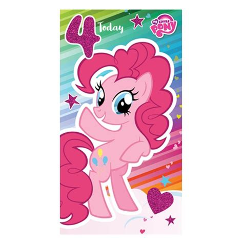 My little pony 4 today 4th birthday card mp011 character brands