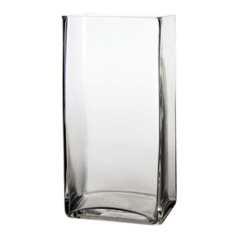 Clear Rectangular Vase wholesale glass vases rectangle vase h 11 75 quot clear pack of 6 pcs rectangular vases 6 quot 9 quot wide