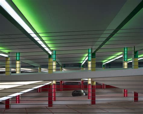 parking garage lighting levels color coded parking garage helps users quot visually quot connect