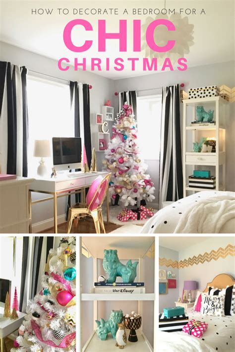 how to decorate a pink bedroom decorating a teen room for christmas black white gold and hot pink