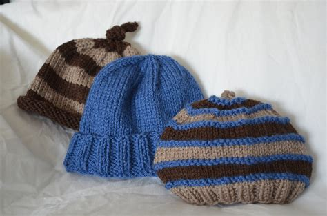 baby boy knitted hats trio of baby hats free patterns finngarian knits