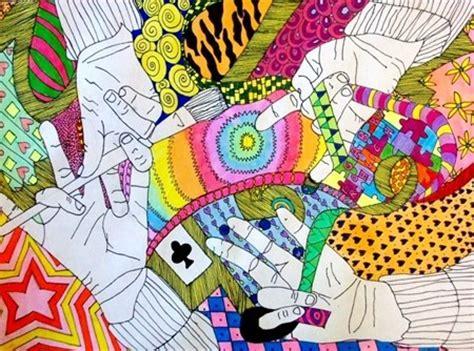 hand pattern art lesson 126 best art lesson ideas contour line images on pinterest