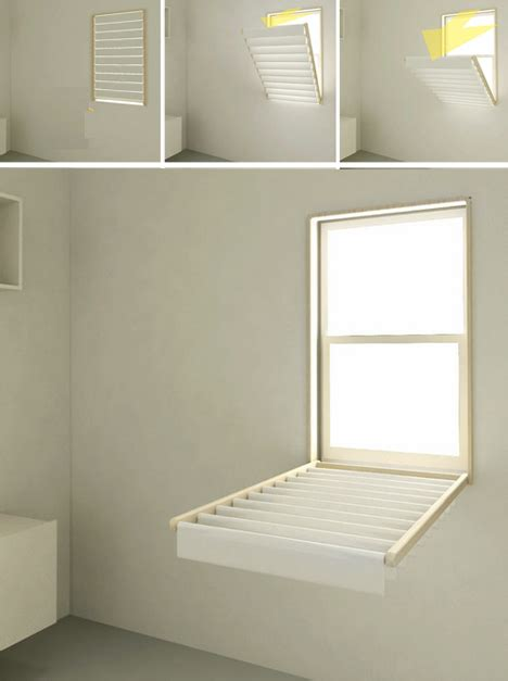 Fold Out Drying Rack by Blindry Window Blinds Flip Into Laundry Drying Rack