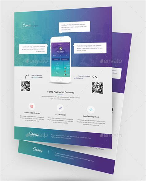 30 effective web mobile apps flyer psd templates web