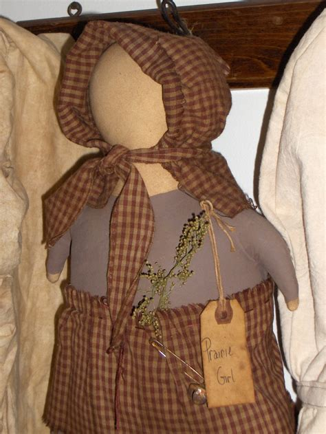 Handmade Rag Doll Patterns - primitive handmade rag doll prairie chestnut junction