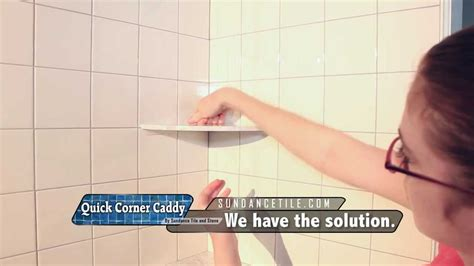 how to install a shower in an existing bathtub installing a shower corner shelf on existing tile youtube