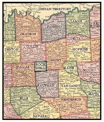 Rockwall County Records Rockwall County Map