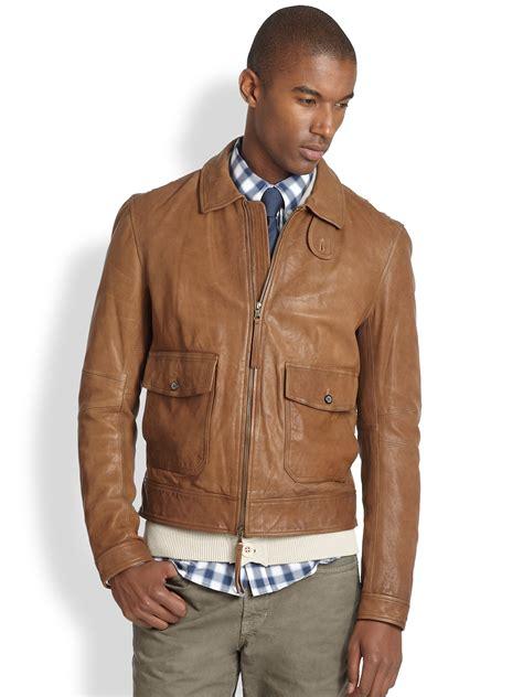 Jacket Bomberkeren 11 lyst vince leather bomber jacket in brown for