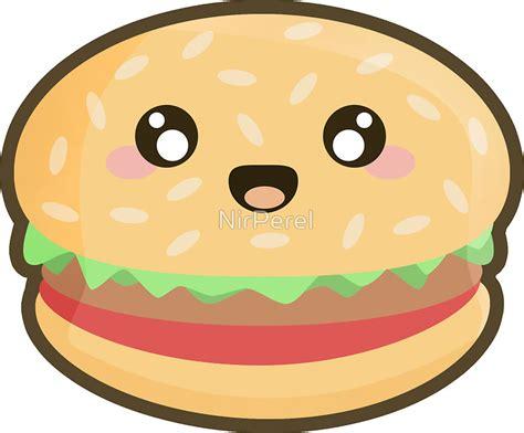 Cute Mugs by Quot Kawaii Hamburger Quot Stickers By Nirperel Redbubble
