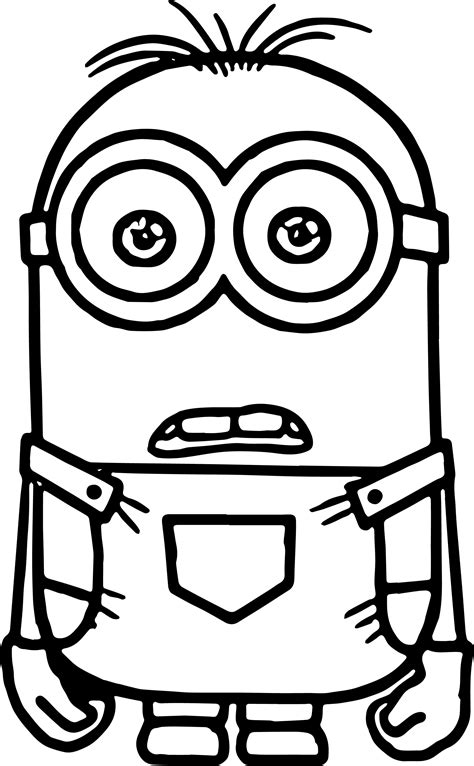 Minion Coloring Page Clipart | free coloring pages of minions halloween mcoloring