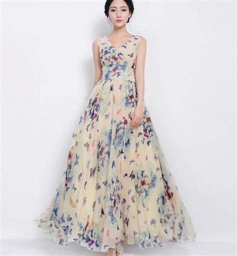 Buterfly Dres womens bohemia sleeves butterfly print chiffon summer dress new ebay