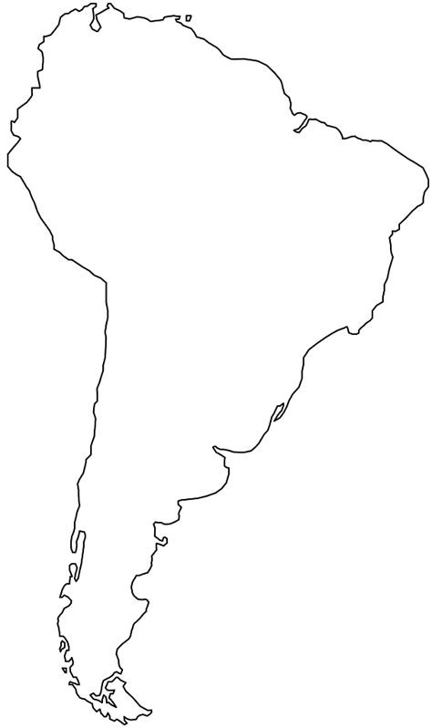 America South America Map Outline by Silhouette S 252 Damerika Karte Silhouetten Und Kontur Vektoren