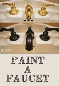 Rubbed Bronze Kitchen Faucets how to paint a faucet sincerely sara d
