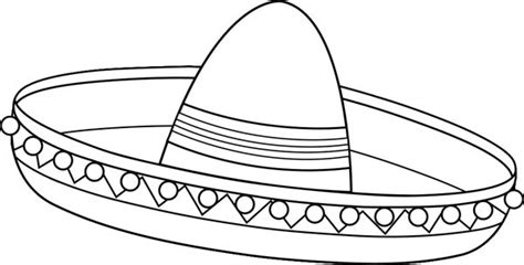 sombrero full page coloring pages
