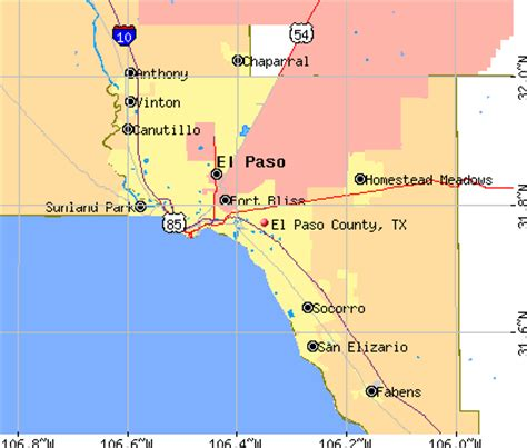 el co texas map el paso county texas detailed profile houses real estate cost of living wages work