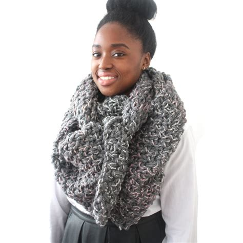 grey knit scarf grey mix chunky knit scarf urbanknit
