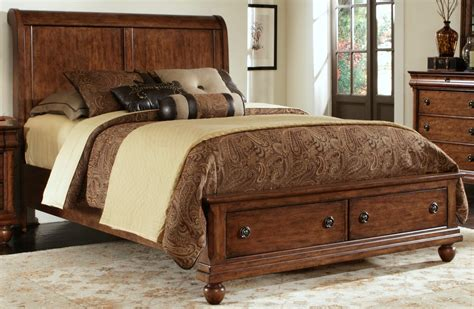 rustic king bed rustic traditions king sleigh storage bed 589 br ksb liberty furniture