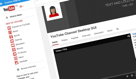 youtube channel layout psd youtube channel gui psd template studio gallant