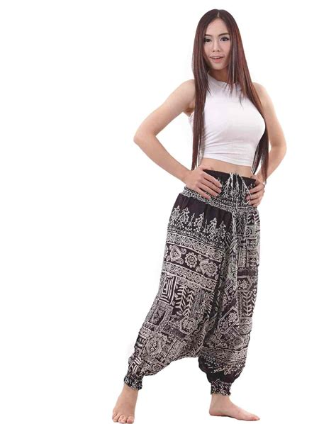 Tribal Pant by Tribal Aztec Harem In Black And White