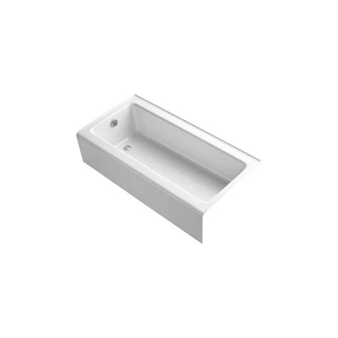 kohler bellwether bathtub kohler bellwether 5 ft left drain bathtub with integral