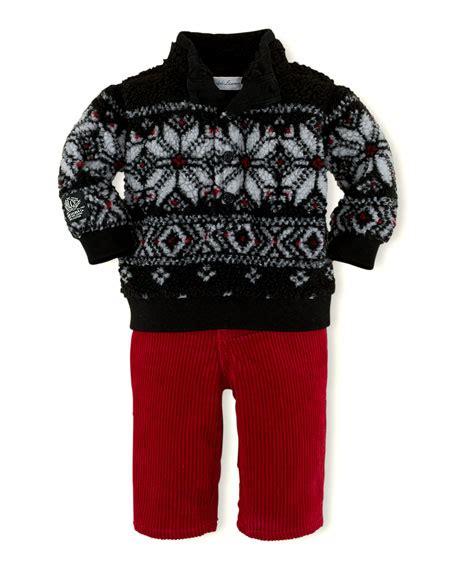 Print Mock Two Pullover ralph childrenswear mock neck fleece pullover
