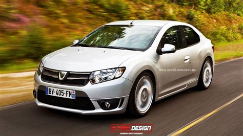 dacia logan coupe rendering yes autoevolution