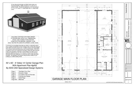 barn with apartment floor plans sdsg450 60 x 50 10 rv workshop apartment barn plans blueprints construction drawings sds