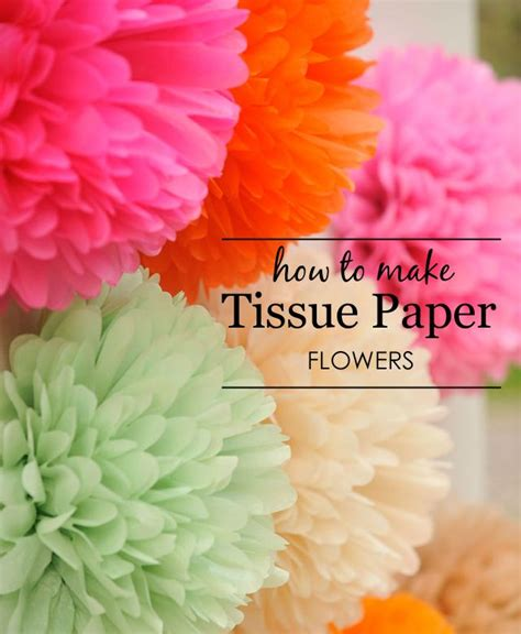 Handmade Tissue Flowers - diy tissue paper flowers tissue paper flowers flower