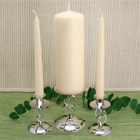 Ivory unity candle set, ivory wedding taper candles