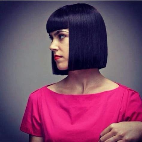 square cut hairstyle square bob one length haircuts pinterest bobs and