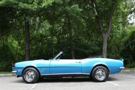 1968 blue camaro seller of classic cars 1968 chevrolet camaro lemans