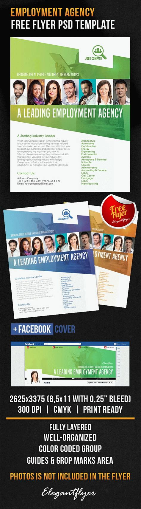 employment agency free flyer psd template facebook