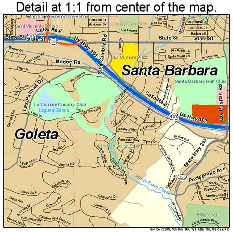 santa barbara california map 0669070