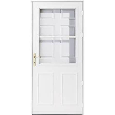 pella retractable screen door shop pella olympia white high view safety retractable