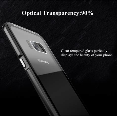 Samsung S8 Cover Tempered Glass Colour Warna luphie metal bumper 9h tempered glass back shell for