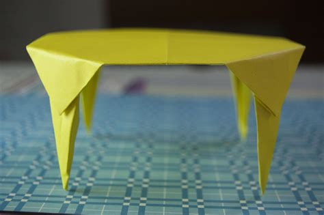 Table Origami - how to make a paper table origami