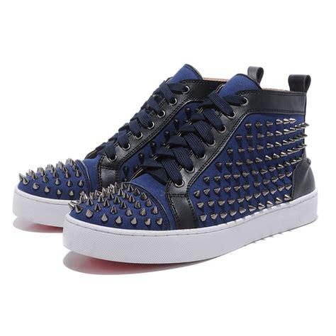 bottom sneakers mens mens bottom sneakers sticker sheepskin blue