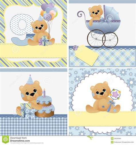 baby arrival cards templates templates for baby card stock images image 26028364