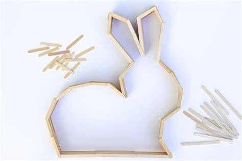 rabbit decorations nursery diy modern bunny wall decor for easter or a nursery