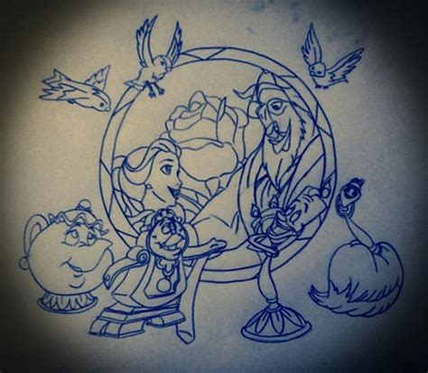 beauty and the beast tattoo designs disney design 6 by icyrose13 on deviantart