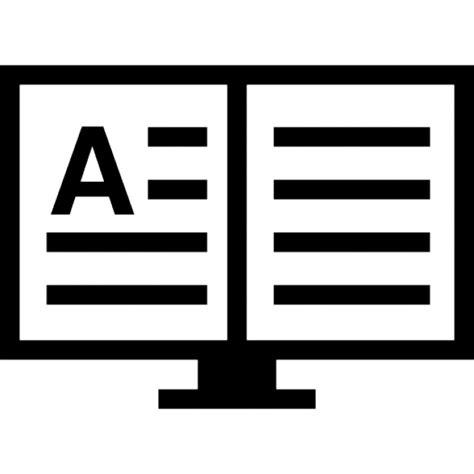 libro di testo libro di testo aperto su un supporto scaricare icone gratis