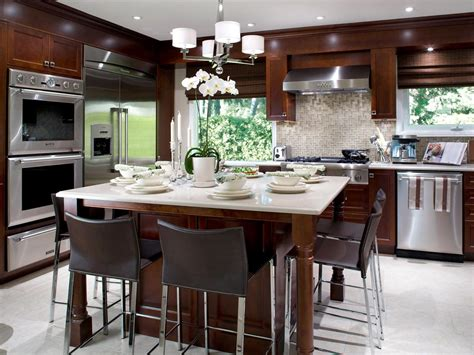 kitchen island with dining table kitchen island tables hgtv