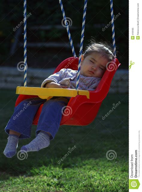 baby fell out of swing swing sleeper royalty free stock photo image 418165