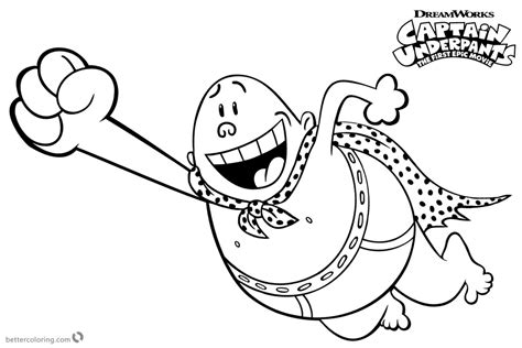 Captain Underpants Coloring Pages Flying Free Printable Coloring Pages Captain Underpants Coloring Pages