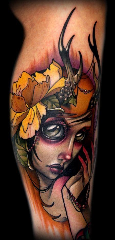 tattoo lady cartoon off the map tattoo tattoos cartoon autumn deer lady