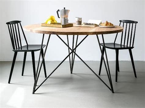 esstisch rund oak steel table esszimmer esstisch rund nutsandwoods eiche