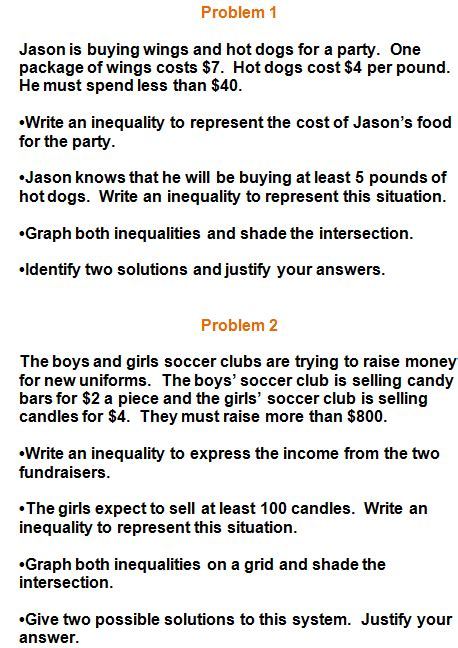 Inequality Word Problems Worksheet by Systems Of Inequalities Practice Problems