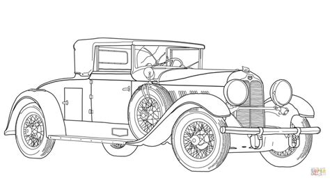 Old Fashioned Cars Coloring Pages | print ford model t car concept colouring page in full size